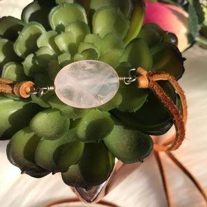 Boho Rose quartz wrap necklace/ bracelet
